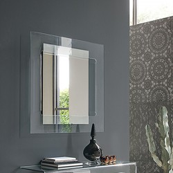 Specchio rettangolare in vetro - Sagitta