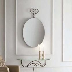 Specchio ovale in vetro e...