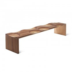 Ripples wooden bench