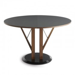 Round extendable table marble base - Flower