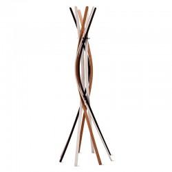 Twist coat rack in solid wood