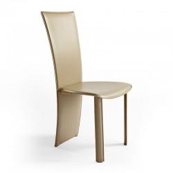 Vento sedia rivestita in cuoio