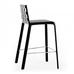 Woven leather stool - Jenia