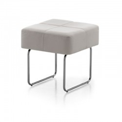 Pouf/low table in eco-leather - Square