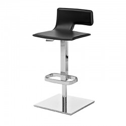 Quod Rei stool in leather and steel