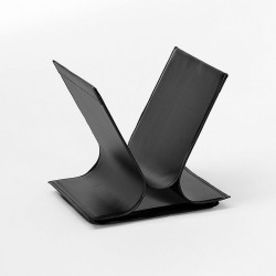 Magazine rack in leather and steel - Vivo