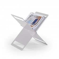 Cross magazine rack in sheet