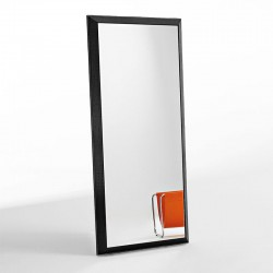Rex wall mirror with leather frame
