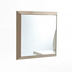 Rex 2 specchio da parete con cornice in cuoio