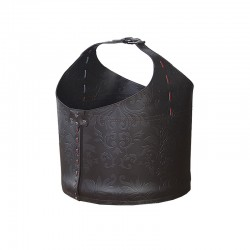 Storage bag in leather with wheels - Vanity