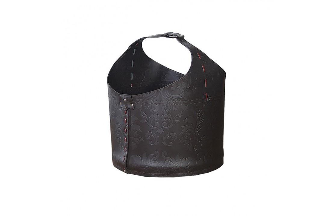 Storage bag in leather with wheels - Vanity