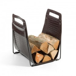 Log holder in leather - Bridge