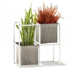 Vaso / portaoggetti modulare in alluminio - iPot 4