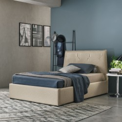 Padded semi-double bed with...