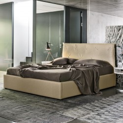 Double bed in vintage eco-leather -Brisbane