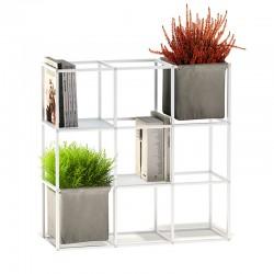 Modular aluminium flower pot / bookcase - iPot 9