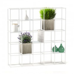 Libreria modulare / parete divisoria in alluminio - iPot 5x5