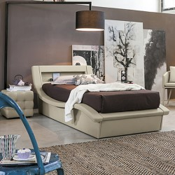 Padded single bed in...