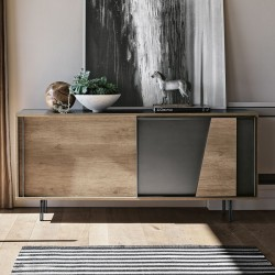 Sideboard with metal and laminate doors -Modus