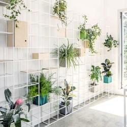Modular aluminium bookcase / room dividers - iPot