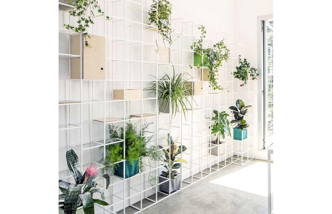 Libreria modulare / parete divisoria in alluminio - iPot