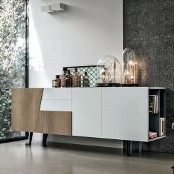 Sideboard in laminate wood w/open side -Versus 210