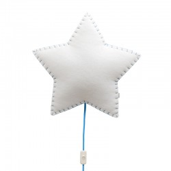 Estrella lampada da parete in tessuto