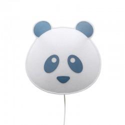 Panda lampada da parete in tessuto