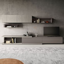 TV cabinet composition in wood and metal - Day 02