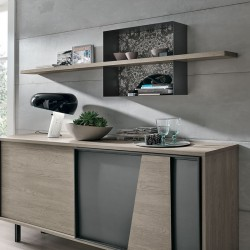 Modus wood shelf with metal frame