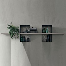 Wooden shelf with metal frame - Modus