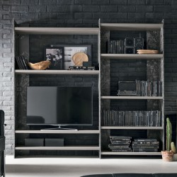 Bookcase in metal and wood - Linear