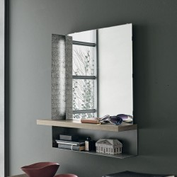 Mirror with wood shelf - Modus