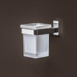 Slim cup-holder in metal...