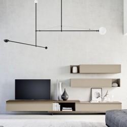 Day 14 composizione mobile TV legno e metallo