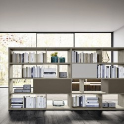 Day modular bookcase two-sides with wall units