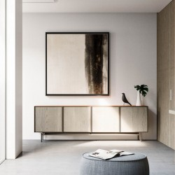 Modern sideboard with metal base - Chic