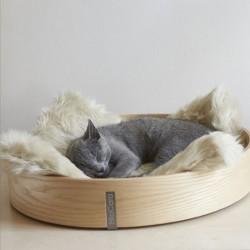 Anello cuccia per gatto in legno