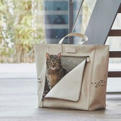 Tosca cat travel bag in...