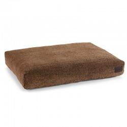 Sherpa cushion dog bed in faux fur