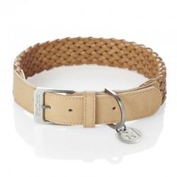 Venezia dog collar in leather