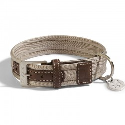 Riva dog collar in fabric and leather