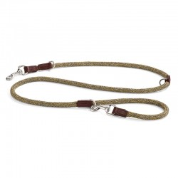 Dog leash in cotton and leather - Lucca