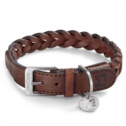 Bergamo dog collar in leather