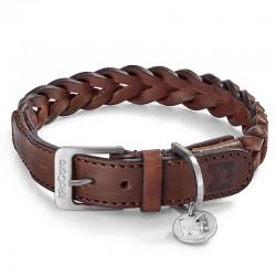 Bergamo dog collar in leather