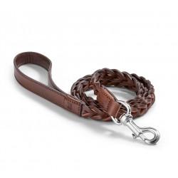 Bergamo dog leash in leather