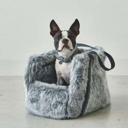 Via borsa da viaggio per cani in eco pelliccia