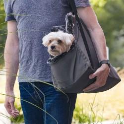 Via borsa da viaggio per cani in eco pelliccia e tessuto