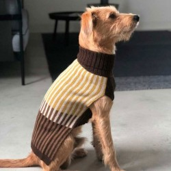 Francesca dog sweater in wood blend
