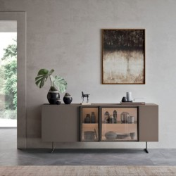 System 01 modular sideboard with glass doors
